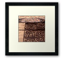 Sardine's Drying in The Sun Framed Print