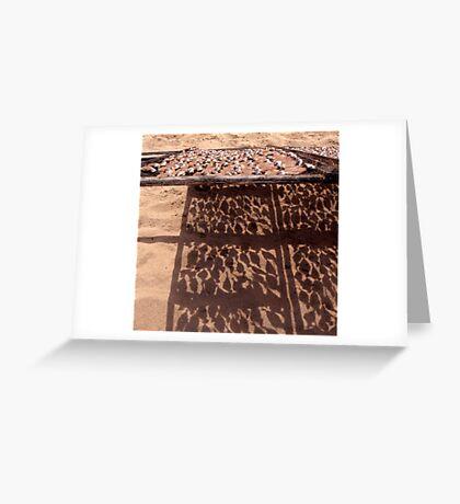 Sardine's Drying in The Sun Greeting Card