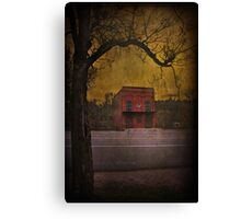 Just Across The Road Canvas Print