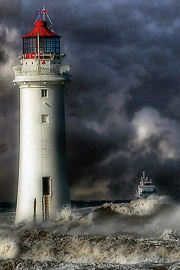 Perch Rock Lighthouse by Tarrby