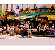 Cafe Culture en Paris Photographic Print