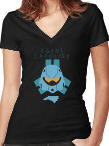 Red Versus Blue | Project Freelancer: Carolina Women's Fitted V-Neck T-Shirt