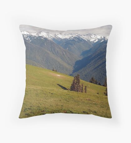 View from Hurricane Ridge, Olympic National Park Throw Pillow