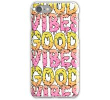 Good Vibes (In Pink and Yellow) iPhone Case/Skin