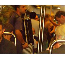 Buskers on the  Metro!!! Photographic Print