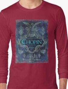 Frederick Chopin Blue Long Sleeve T-Shirt