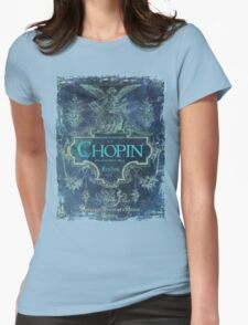 Frederick Chopin Blue Womens Fitted T-Shirt