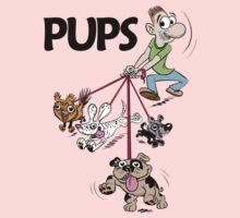 Dog Walker with Cute Puppies Kids Tee