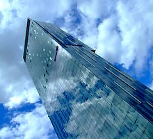 Skyscraper in the Clouds - The Beetham Tower in Manchester, UK by DavidGutierrez