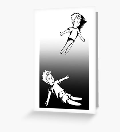 I Dreamt I Was Flying, In Reality I Was Falling Greeting Card