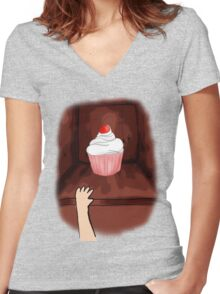 what do you have in your cupboard? Women's Fitted V-Neck T-Shirt