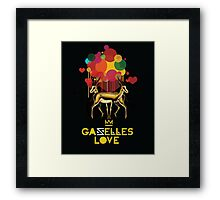 Gazelles Love Framed Print