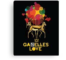 Gazelles Love Canvas Print