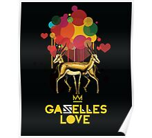 Gazelles Love Poster