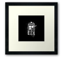 Time Lord Graffiti Framed Print