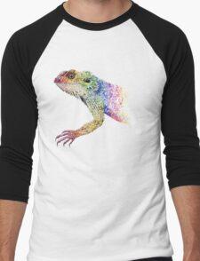 bearded dragon rainbow Mix Men's Baseball ¾ T-Shirt