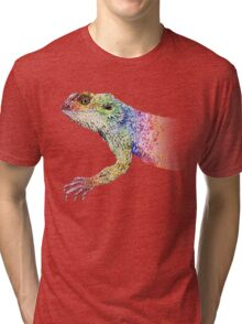 bearded dragon rainbow Mix Tri-blend T-Shirt