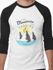 The Mountains are Calling... Men's Baseball ¾ T-Shirt
