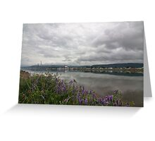 Nova Scotia small town scene Greeting Card