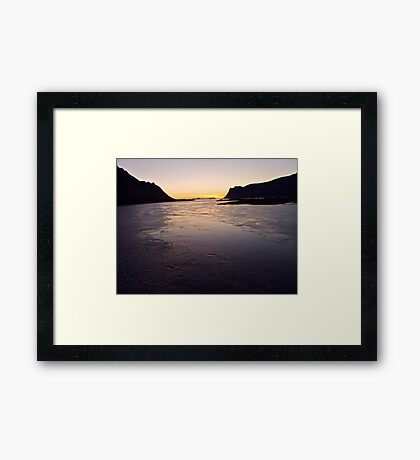 #######   ....Deep in my heart forever  !   ######   Lofots by night.    My Norway. by Brown Sugar . Views (240) Thanks so much !!! Framed Print