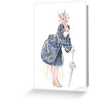 miss Ro co co Greeting Card