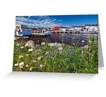 Canadian Harbor scene Greeting Card