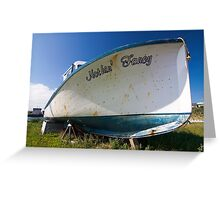 Old boat in dry dock Greeting Card