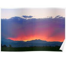Sunset Burning Rays Poster