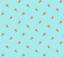 Icecream Pattern  by PolydsignStudio