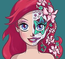 Sugar Skull Series: Ariel by Ellador