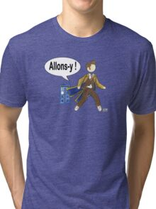 Doctor Who #10 - Allons-y Tri-blend T-Shirt