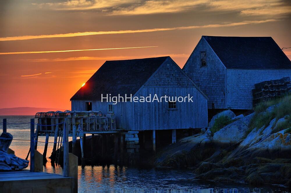 Peggy's Cove Lobster Shack by HighHeadArtwork