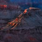 Grand Canyon Alpenglow 2 by Stephen Vecchiotti