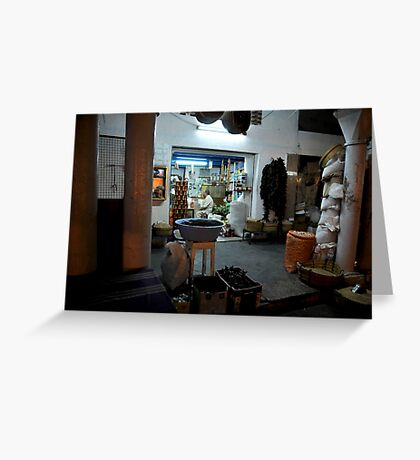 Spice shop Greeting Card