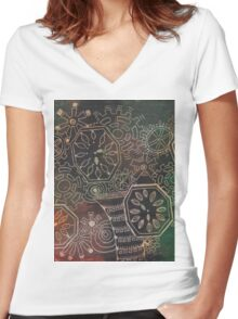 Steampunk 2 Women's Fitted V-Neck T-Shirt