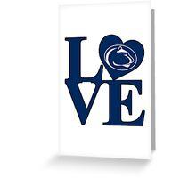 Love Penn State Greeting Card