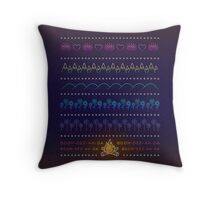 Mountains, Hills, Flowers, Daffodils Throw Pillow