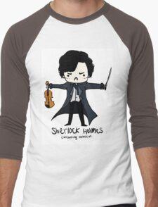 Sherlock is Not a Psychopath Men's Baseball ¾ T-Shirt