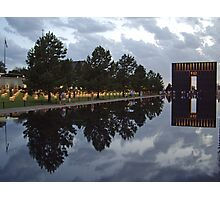Floating Reflections -- Oklahoma City Memorial Photographic Print