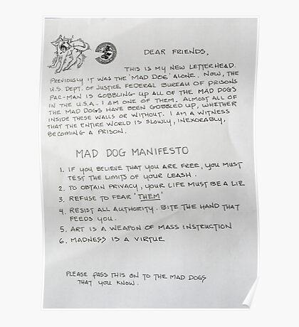 Mad Dog Manifest Poster