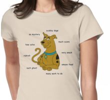 Scabby Doge - Dark Text Womens Fitted T-Shirt