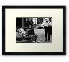 No Vending License Framed Print
