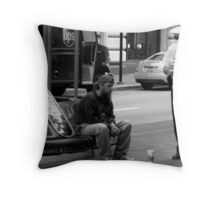 No Vending License Throw Pillow