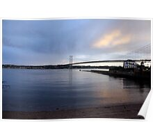 The Forth Road bridge from North Queensferry Poster