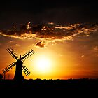 Windmill at Sunset by ArtforARMS