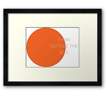 think outside the box Framed Print