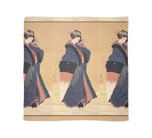 'Beauty with Umbrella in the Snow' by Katsushika Hokusai (Reproduction) Scarf