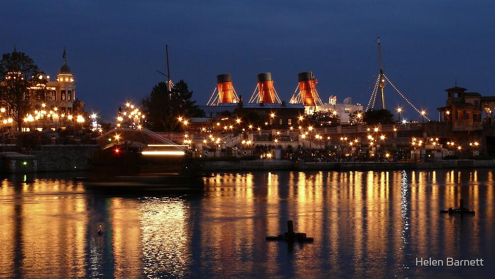 Boat By Night - Tokyo DisneySea by Helen Barnett