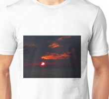 Sunset at Sea between Yangon and Colombo Unisex T-Shirt