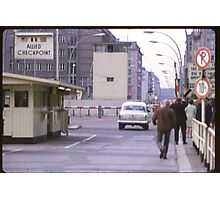 Check Point Charlie, West Berlin, Germany 1970 Photographic Print